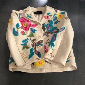 Bcbg floral jacket